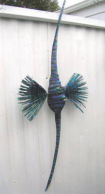 Mixed Media - Annie The Angel Fish by Dan Townsend