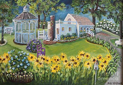 Art Print featuring the painting Annie's Summer Cottage by Rita Brown