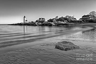 Photograph - Annisquam Harbor Lighthouse Bw by Susan Candelario