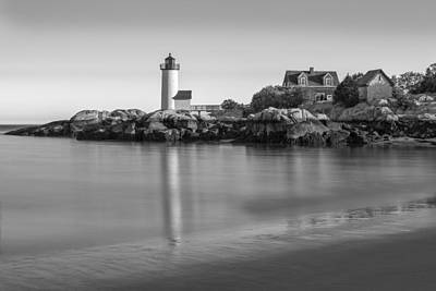Lighthouses Photograph - Annisquam Lighthouse Bw by Susan Candelario
