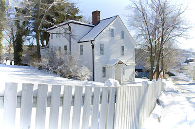 White Picket Fence Photograph - Annisquam Winter by Donna Doherty