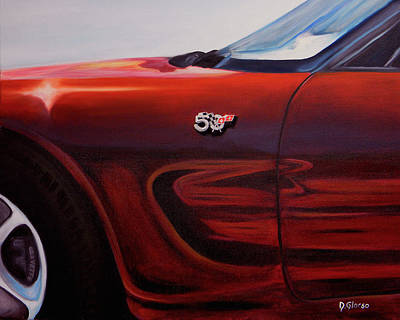 Anniversary Edition Corvette Art Print