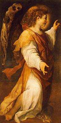 Guides Painting - Announcing Angel by Annibale Carracci