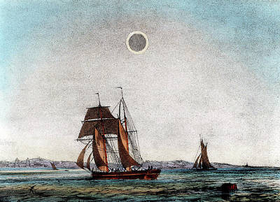 1845 Photograph - Annular Eclipse Of The Sun by Universal History Archive/uig