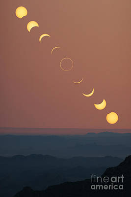 Photograph - Annular Solar Eclipse Phases by Babak Tafreshi