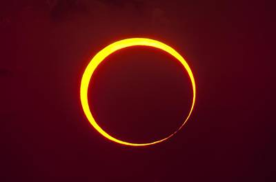 Annular Solar Eclipse Art Print by Science Photo Library