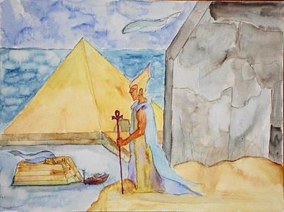Ancient Civilization Painting - Anunnaki Stargate by KD Martel