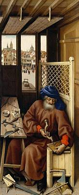 Left-wing Painting - Annunciation - Left Wing by Robert Campin