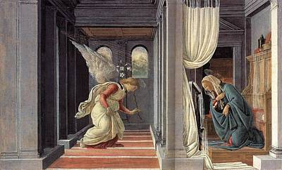 Painting - Annunciation 1 by Sandro Botticelli
