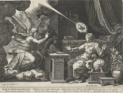 Annunciation, Cornelis Cort, Unknown, Pieter De Jode Art Print