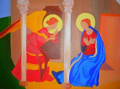 Annunciation Original by Courtney Mauldin