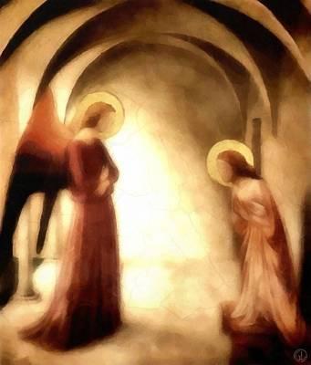 Holy Digital Art - Annunciation by Gun Legler