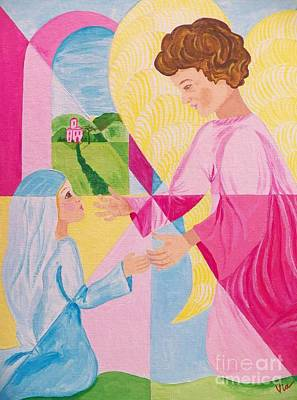Painting - Annunciation by Judy Via-Wolff