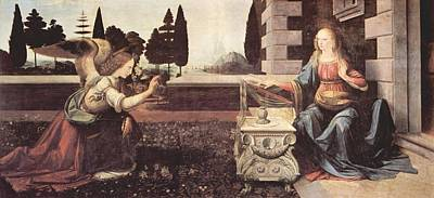 Painting - Annunciation by Leonardo Da Vinci