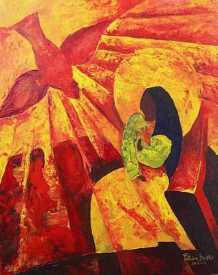 Testament Painting - Annunciation by Patricia Brintle