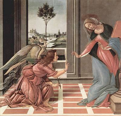 Painting - Annunciation by Sandron Botticelli