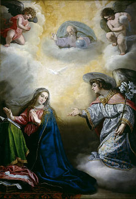 Annunciation Art Print by Vincenzo Carducci
