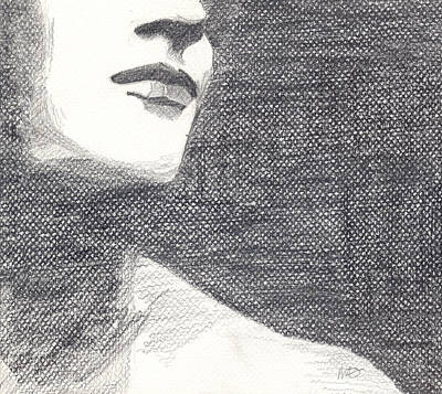 Art Print featuring the drawing Anonymous Crop by Michele Engling