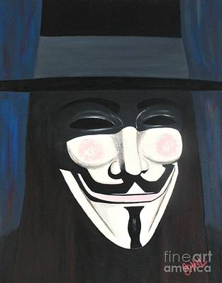 Fandom Painting - Anonymous  by JoNeL Art