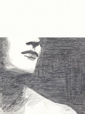 Art Print featuring the drawing Anonymous by Michele Engling