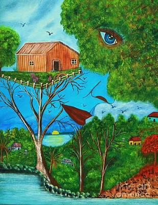 Painting - Anoranzas by Iris  Mora