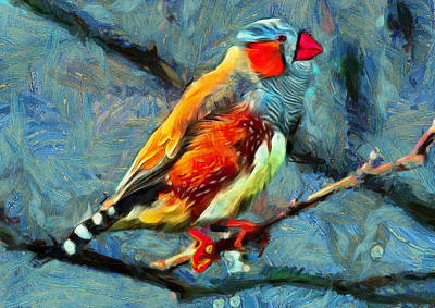 Pets Art Digital Art - Another Bird In Paradise by Yury Malkov