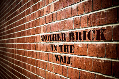 Another Brick In The Wall Art Print by Purple Moon