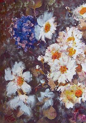 Painting - Another Cluster Of Daisies by Richard James Digance