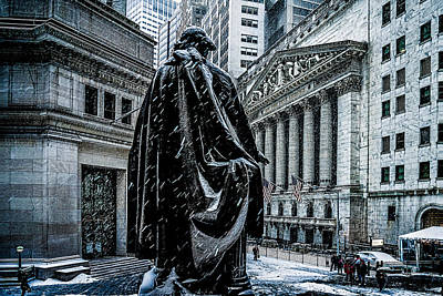 George Washington Digital Art - Another Cold Cold Day On Wall Street by Chris Lord