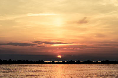 Another Earth - Sunrise On The Sea Art Print by Andrea Mazzocchetti