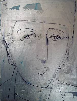 Drawing - Another Face With A Hat I Remember by Debbie Clarke