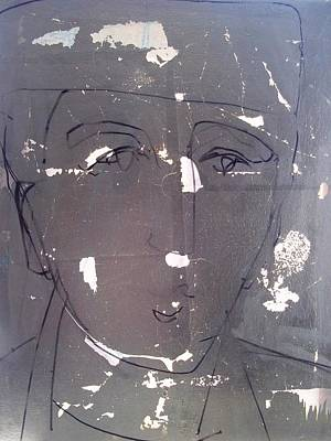 Drawing - Another Face With A Hat Vs 2 by Debbie Clarke