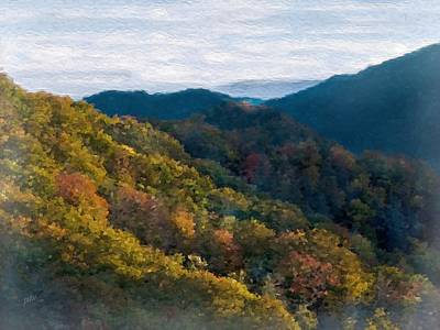 Another Fall Smoky Mountain Scenic Art Print by Philip White