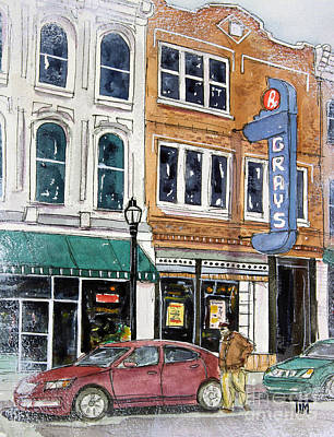 Drug Stores Painting - Another Gray Day by Tim Ross