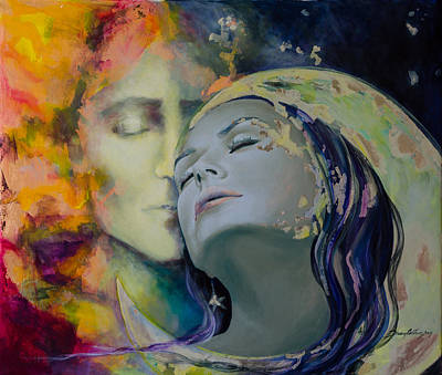 Kiss Painting - Another Kind Of Rhapsody by Dorina  Costras