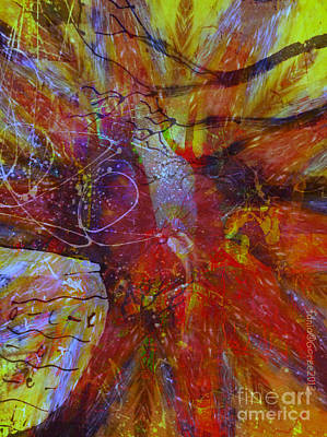 Faniart Africa America Mixed Media - Another Kind Of Storm by Fania Simon