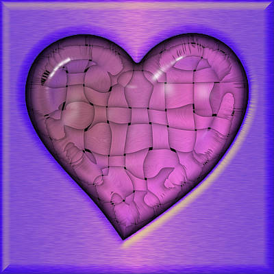 Digital Art - Another Purple Heart by Wendy J St Christopher
