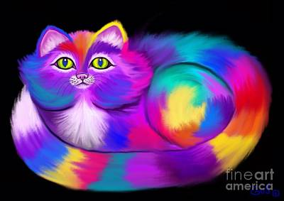 Another Rainbow Calico Cat Original