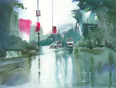 Another Rainy Day Art Print by Anil Nene