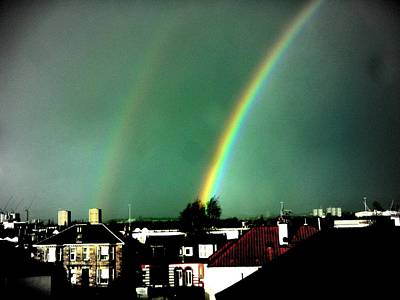 Rainbows Photograph - Another Scottish Rainbow by Mlle Marquee