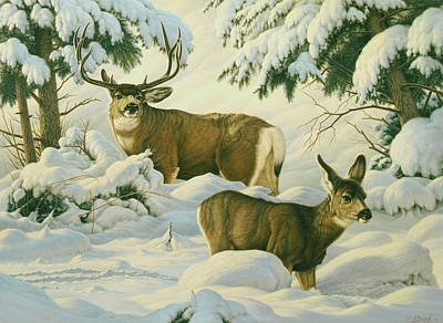Mule Painting - Another Season by Paul Krapf