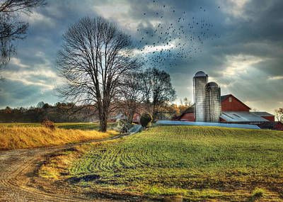 Amish Farms Mixed Media - Another Sunday Morning by Lori Deiter