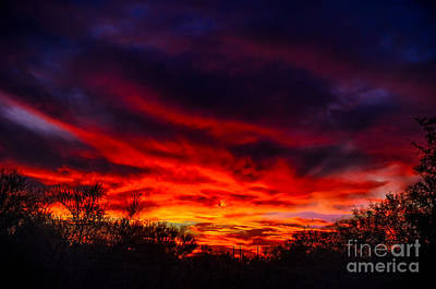 Another Tucson Sunset Art Print by Mark Myhaver