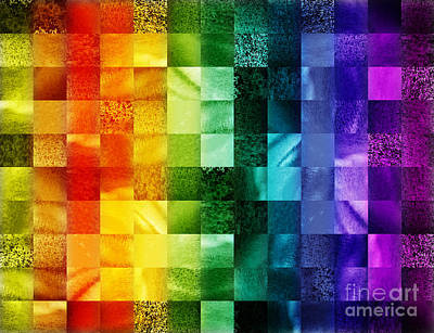 Abstract Pattern Painting - Another Kind Of Rainbow by Irina Sztukowski
