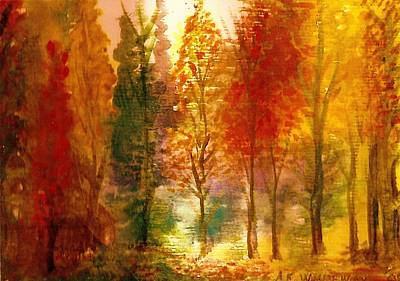 Another View Of Autumn Hideaway Art Print by Anne-Elizabeth Whiteway