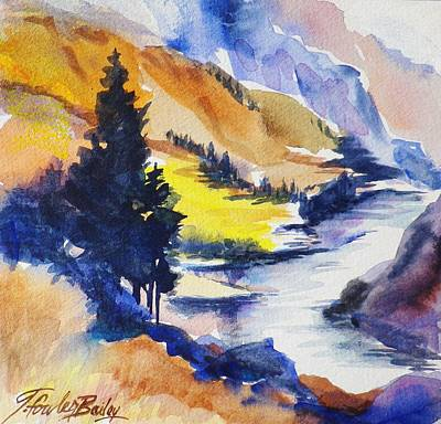 Another View Of The Truckee  Art Print by Therese Fowler-Bailey