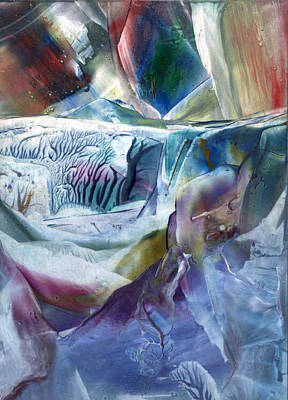 Crystalline Painting - Another World Forming by Cristina Handrabur