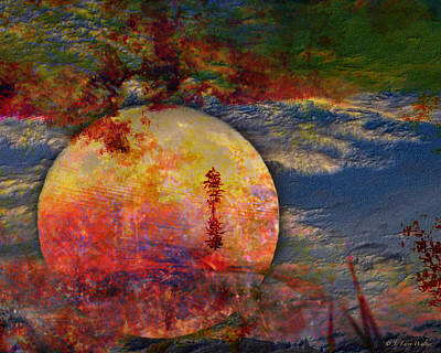Digital Art - Another World Moon Abstract by J Larry Walker