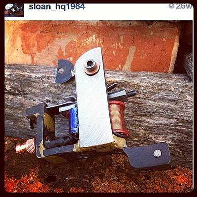 Machine Photograph - Another#sloan_hq1964#tattoo#machine#wtf by Wes Sloan
