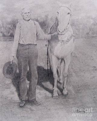 Drawing - Ansel And Nellie by Mary Lynne Powers